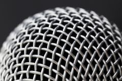Metal part of the microphone. To get a good clean sound, closeup royalty free stock photo