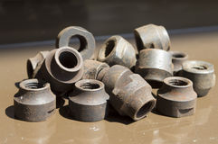 Metal parts for bicycles mechanisms Stock Photography