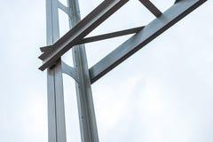 Metal parts of the bridge. Horizontal frame Stock Photography