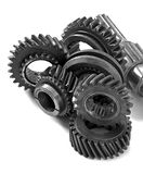 Metal parts gear Stock Photography