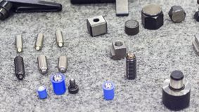 Metal parts for machining jig Royalty Free Stock Image