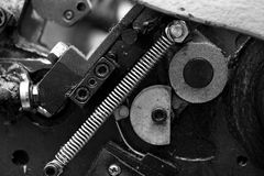 Metal parts of the mechanism. An industrial equipment Stock Images