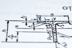 Metal parts plan. In close up Royalty Free Stock Photo