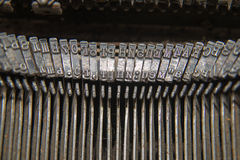 Metal parts for printing on an old typewriter Royalty Free Stock Photography