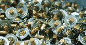 Metal parts in a production facility. Automotive metal parts in a production facility stock footage
