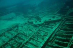 Metal parts of shipwreck Royalty Free Stock Photo