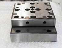 Metal parts for  tooling manufacturing Stock Photos