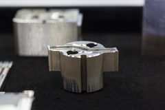 Metal parts for  tooling or mold manufacturing Royalty Free Stock Photography