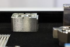 Metal parts for  tooling or mold manufacturing Stock Photos