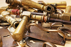 Metal parts of vintage furnitures Royalty Free Stock Photos