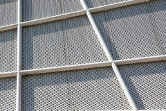 Metal Pattern Architecture details Facade Metal Geometric Structure.  royalty free stock photo