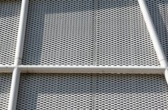 Metal Pattern Architecture details Facade Metal Geometric Structure.  royalty free stock photos