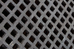 Metal pattern. Manhole cover steel pattern closed-up background Stock Photography