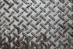 Metal pattern plate. Old metal pattern plate with rust stock photos