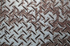 Metal pattern plate. Old metal pattern plate with rust Royalty Free Stock Photos