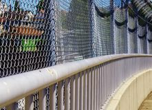 Metal Pedestrian Walking Overpass Railing Pattern Royalty Free Stock Image