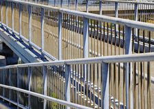 Metal Pedestrian Walking Overpass Railing Pattern Stock Photography