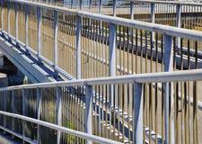 Metal Pedestrian Walking Overpass Railing Pattern Stock Photography