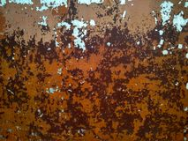 Texture metal with peeling paint of different colors royalty free stock images