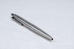 Metal Pen 03. View of metal pen on writing side of pen Royalty Free Stock Photo