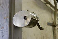 Metal pencil sharpener Stock Photo