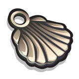 Metal pendant in the shape of seashells. Accessory Stock Image
