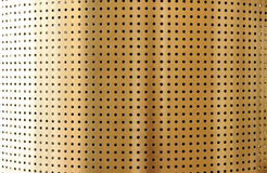 Metal perforated surface Stock Images