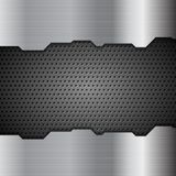 Metal perforated texture tech background Stock Images