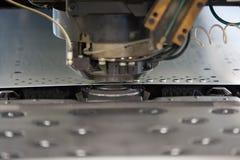 Metal perforating industrial machine. Stock Photos