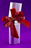 Perfume Spray with Red Bow Stock Photo
