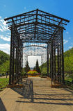 Metal pergola at the entrance to Maggie Daley Park in downtown C Royalty Free Stock Images