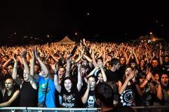 Metal pesado, concierto de rock vivo Fotos de archivo