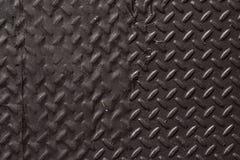 Metal pesado Diamond Plate Abstract Texture Background preto Foto de Stock Royalty Free