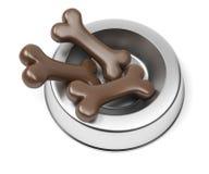 Metal pet food bowl Stock Images