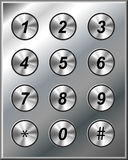 Metal phone keypad Stock Photography