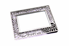 Metal photo frame Royalty Free Stock Images