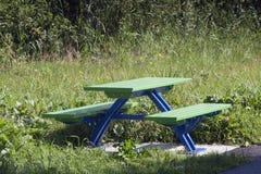 Metal picnic table Royalty Free Stock Image