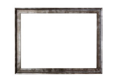 Metal picture frame on white background Stock Images