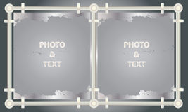 Metal picture frames and paintings Stock Photography