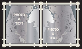 Metal picture frames and paintings Royalty Free Stock Images