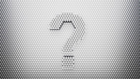 Metal Pin Wall with Question Mark Royalty Free Stock Photography