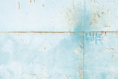 Metal pintado azul Foto de archivo libre de regalías