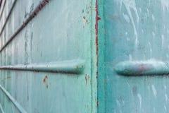 Metal pintado viejo verde retro Fondo verde abstracto Foto de archivo libre de regalías