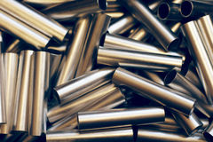 Metal pipe background. Lots of metal little pipes abstract background Stock Photography