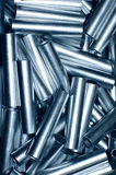 Metal pipe background. Lots of metal little pipes abstract background Royalty Free Stock Image