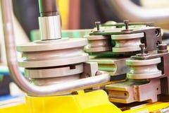 Metal pipe bending machine Royalty Free Stock Photography