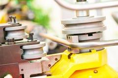 Metal pipe bending machine Royalty Free Stock Image