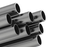 Metal pipe. 3d rendering illustration isolated on white background.  Royalty Free Stock Photo