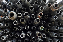 Metal Pipe Frenzy. Metal pipe ends in artistic frenzy stock images