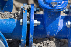 Metal pipe joints Stock Photography
